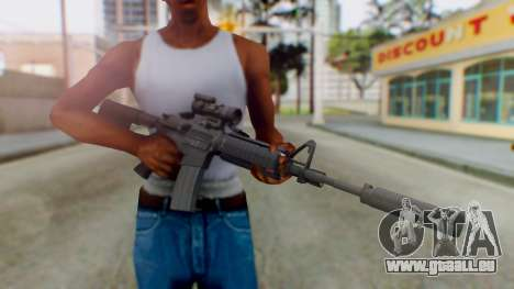 Arma Armed Assault M4A1 Aimpoint Silenced für GTA San Andreas dritten Screenshot