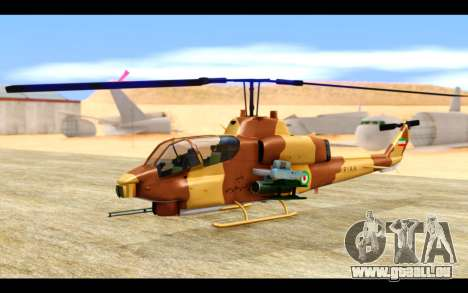 AH-1W IRIAF SuperCobra für GTA San Andreas linke Ansicht