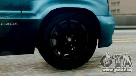 GTA 5 Albany Cavalcade II IVF pour GTA San Andreas sur la vue arrière gauche
