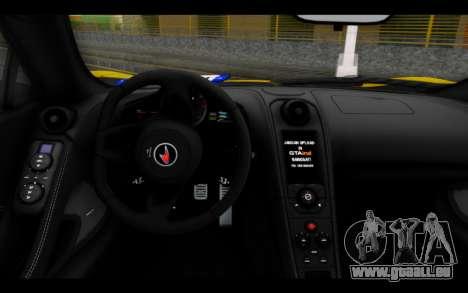 McLaren 650S Coupe pour GTA San Andreas sur la vue arrière gauche