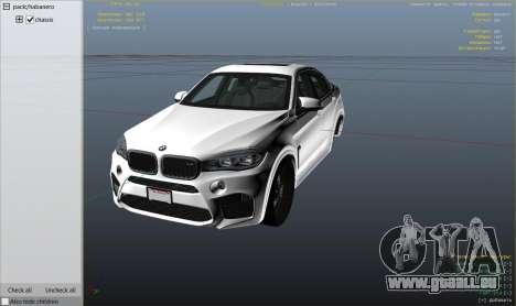 GTA 5 BMW X6M F16 Final droite vue latérale