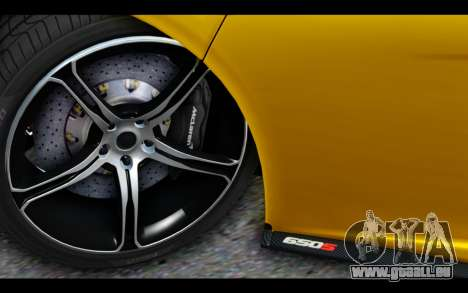 McLaren 650S Coupe pour GTA San Andreas vue intérieure