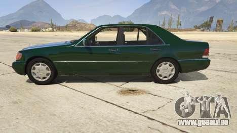 GTA 5 Mercedes-Benz S600 v1.1 linke Seitenansicht