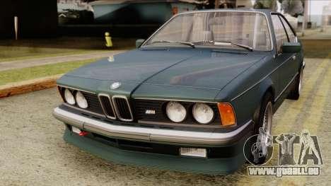 BMW M635 E24 CSi 1984 Stock für GTA San Andreas