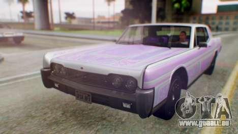 GTA 5 Vapid Chino Tunable PJ pour GTA San Andreas vue de côté