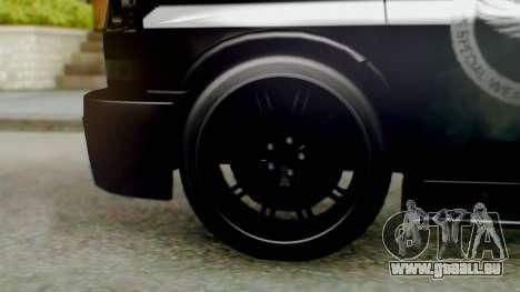 New Enforcer pour GTA San Andreas sur la vue arrière gauche