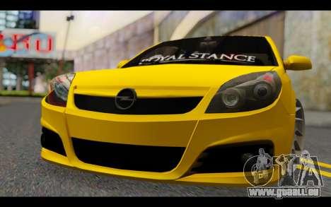 Opel Vectra Special für GTA San Andreas Rückansicht