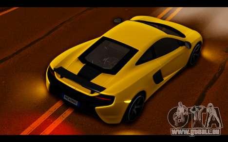 McLaren 650S Coupe pour GTA San Andreas salon