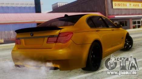 BMW 750Li M Sport pour GTA San Andreas laissé vue