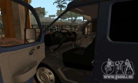 GAZelle 33023 Nova Poshta für GTA San Andreas rechten Ansicht