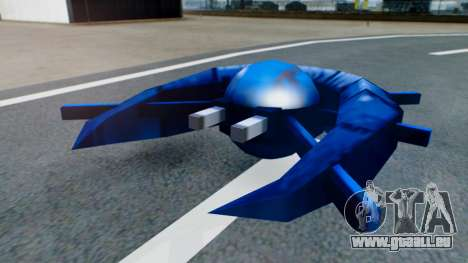 Alien Ship Dark Blue für GTA San Andreas linke Ansicht