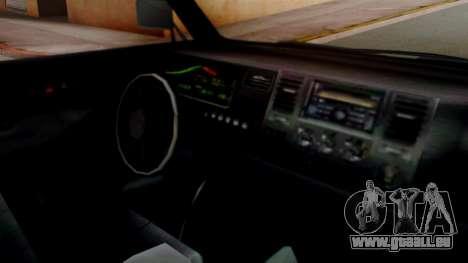 GTA 5 Rental Shuttle Bus Touchdown Livery pour GTA San Andreas vue de droite
