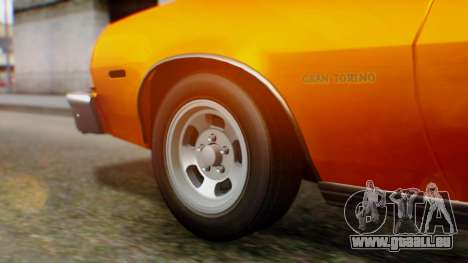 Ford Gran Torino 1974 für GTA San Andreas Rückansicht