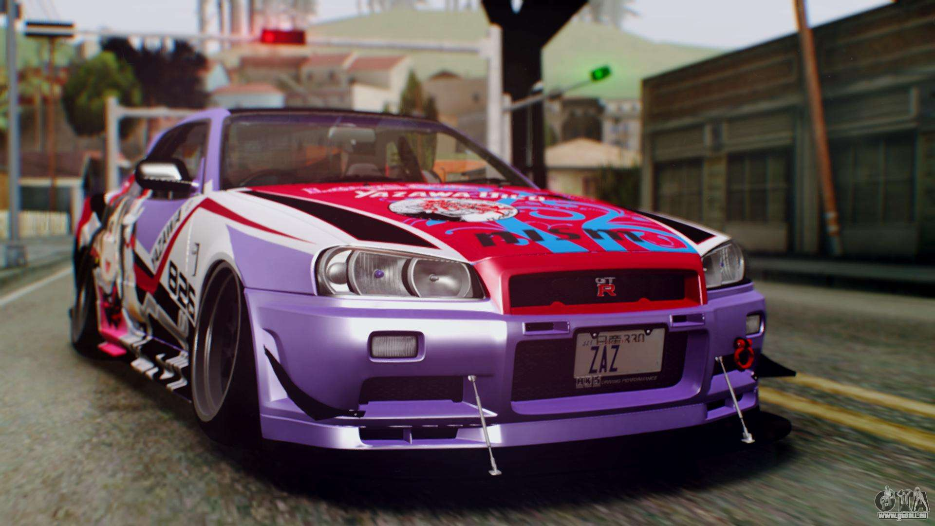 nissan skyline r34 stance nico yazawa itasha f r gta san. Black Bedroom Furniture Sets. Home Design Ideas