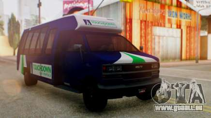 GTA 5 Rental Shuttle Bus Touchdown Livery pour GTA San Andreas