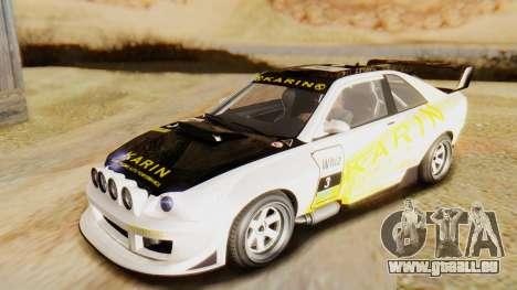 GTA 5 Karin Sultan RS pour GTA San Andreas vue intérieure