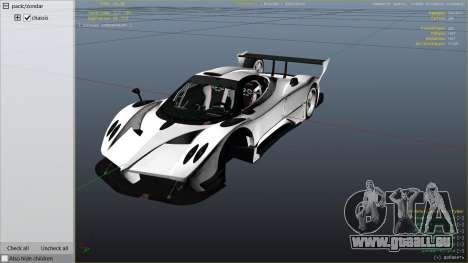 GTA 5 Pagani Zonda R v1.0 rechte Seitenansicht