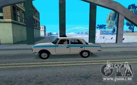 Moskvitch 412 Police pour GTA San Andreas laissé vue