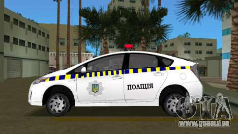 Toyota Prius Police De L'Ukraine pour une vue GTA Vice City de la gauche