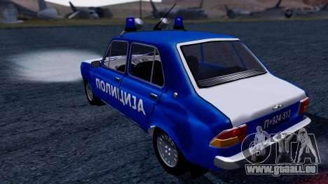 Zastava 101 Policija pour GTA San Andreas laissé vue