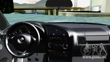 BMW M3 Coupe E36 (320i) 1997 pour GTA San Andreas sur la vue arrière gauche