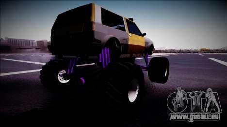 Club Monster Truck pour GTA San Andreas laissé vue