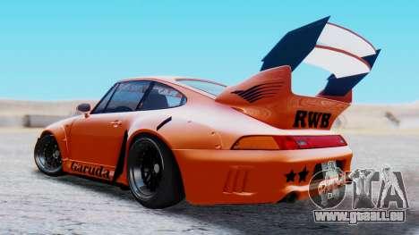 Porsche 993 GT2 RWB GARUDA für GTA San Andreas linke Ansicht