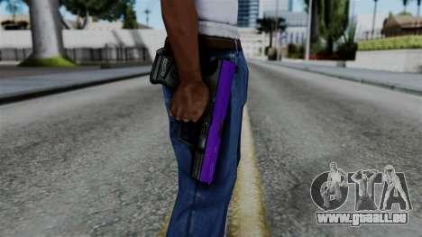 Purple Desert Eagle pour GTA San Andreas troisième écran