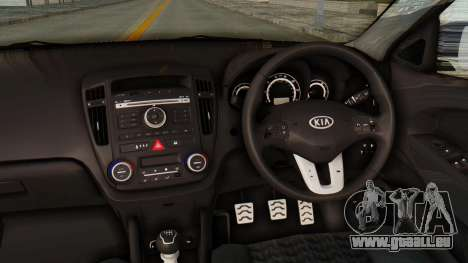 Kia Ceed Stance AirQuick pour GTA San Andreas vue intérieure