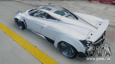 Pagani Huayra LB Performance pour GTA San Andreas sur la vue arrière gauche