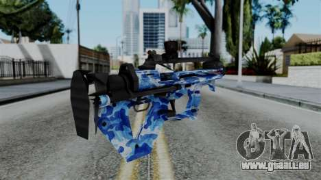 CoD Black Ops 2 - PDW-57 Camo Blue für GTA San Andreas zweiten Screenshot