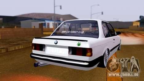 BMW M3 E30 Special pour GTA San Andreas laissé vue