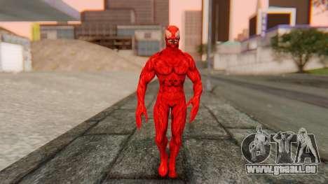 Marvel Heroes - Carnage pour GTA San Andreas deuxième écran