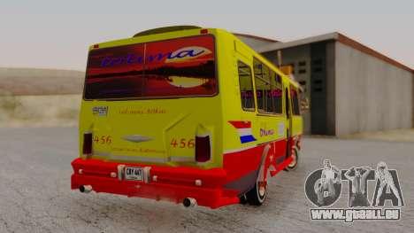 PAZ 3205 Stylo Colombia pour GTA San Andreas laissé vue