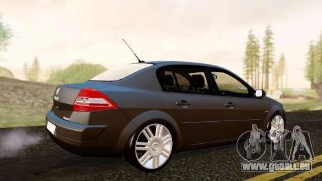 Renault Megane CPJ pour GTA San Andreas sur la vue arrière gauche