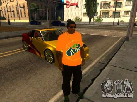 T-Shirt Fanta für GTA San Andreas zweiten Screenshot