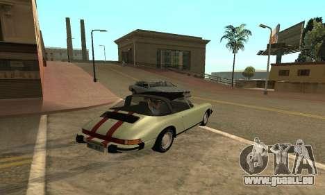Porsche 911 Targa 1974 pour GTA San Andreas laissé vue
