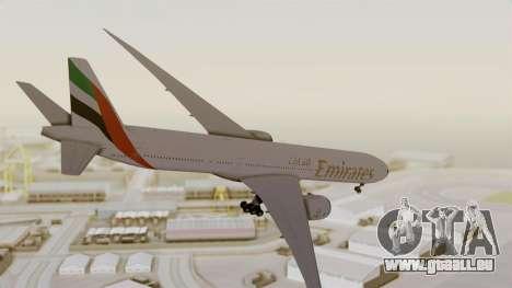 Boeing 777-9x Emirates Airlines pour GTA San Andreas vue de droite