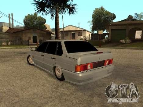 VAZ-2115 pour GTA San Andreas sur la vue arrière gauche