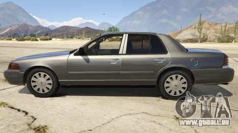 GTA 5 Ford Crown Victoria Detective linke Seitenansicht