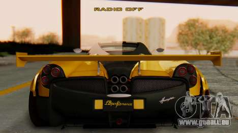Pagani Huayra LB Performance V.2 pour GTA San Andreas laissé vue