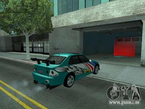 Toyota Altezza Tunable für GTA San Andreas Innenansicht
