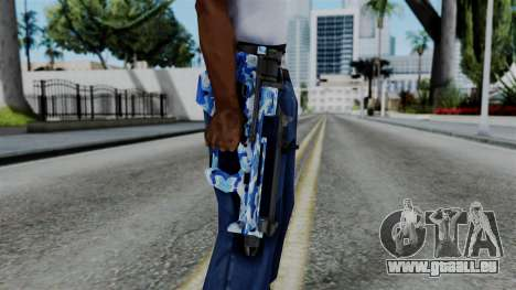 CoD Black Ops 2 - PDW-57 Camo Blue für GTA San Andreas dritten Screenshot