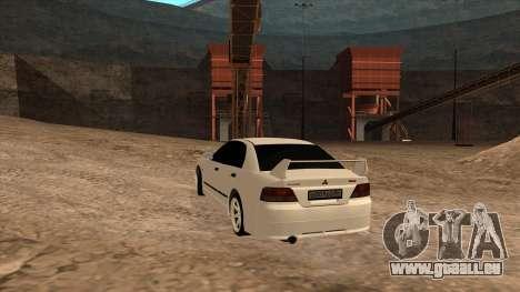 Mitsubishi Galant VR-4 (2JZ-GTE) pour GTA San Andreas laissé vue