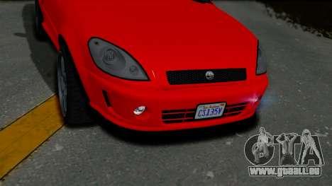 GTA 5 Declasse Premier Coupe IVF pour GTA San Andreas vue arrière