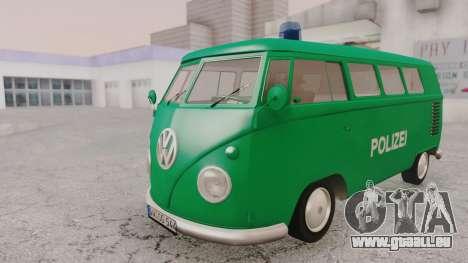 Volkswagen T1 Polizei für GTA San Andreas rechten Ansicht