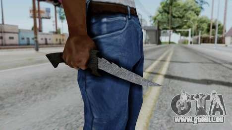 New Knife pour GTA San Andreas troisième écran