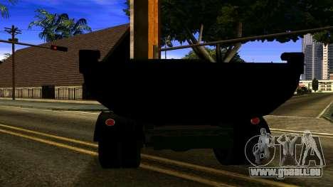 ZIL 130 pour GTA San Andreas sur la vue arrière gauche