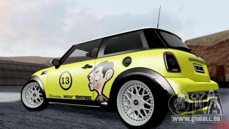 Mini John Cooper Works Mr.Bean pour GTA San Andreas laissé vue