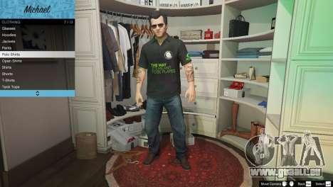 Nvidia chemise Polo pour Michael pour GTA 5
